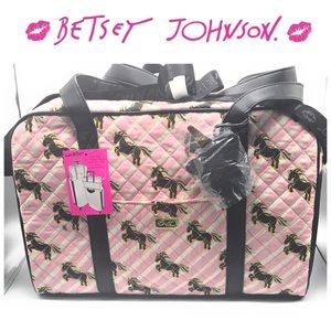 BWT Betsey Johnson Quilted Unicorn Weekender Tote